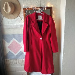 ModCloth Myrtlewood Fall in Love Wool Coat Size L